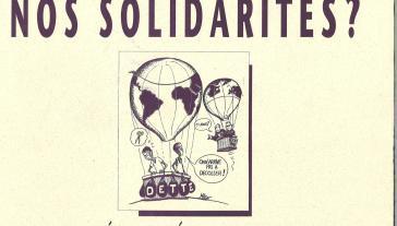 Affiche : Ajuster le sud ou nos solidarités